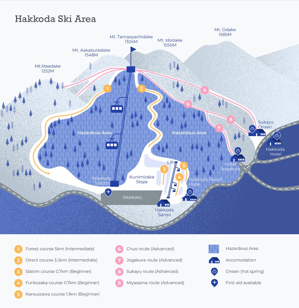 90205 Hakkoda Ski Map V0